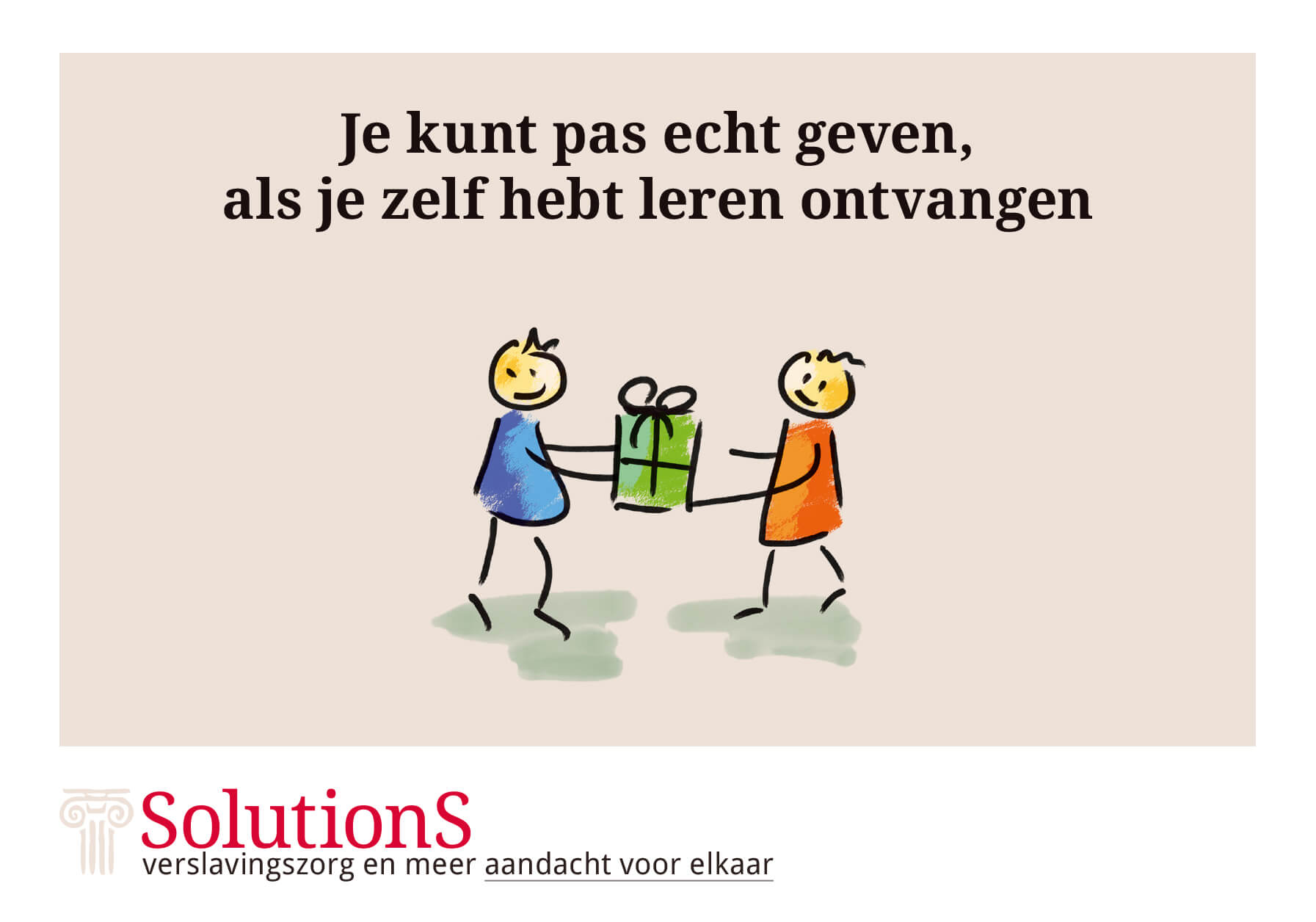 SolutionS, verslavingszorg en meer Quote