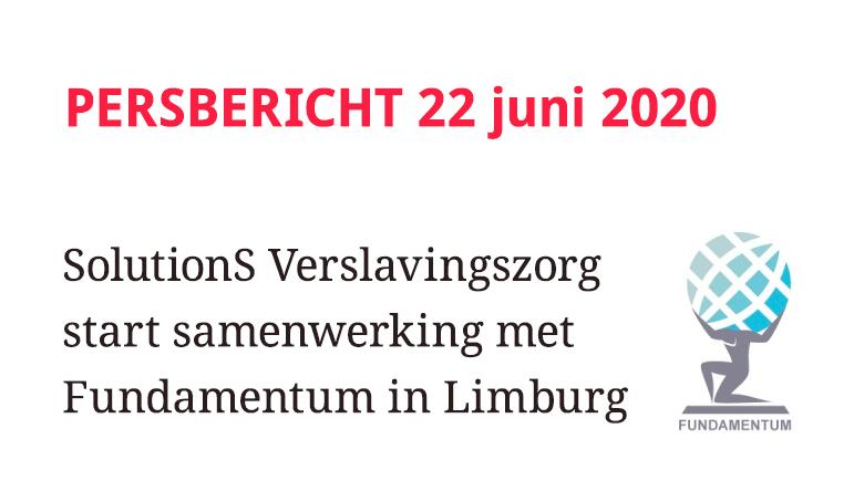 SolutionS Verslavingszorg start samenwerking met Fundamentum in Limburg