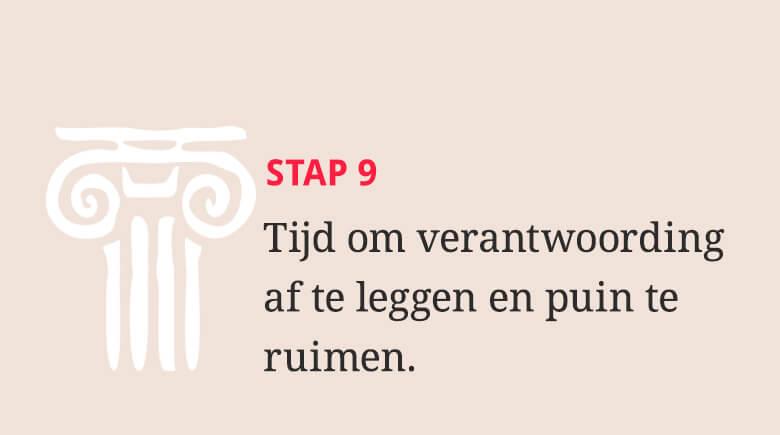 Stap 9: Tijd om verantwoording af te leggen en puin te ruimen.